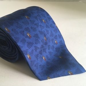ves Saint Laurent 1980s 1990s Blue Necktie